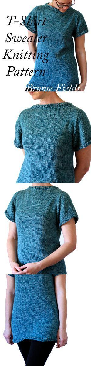 T-Shirt Sweater Knitting Pattern!