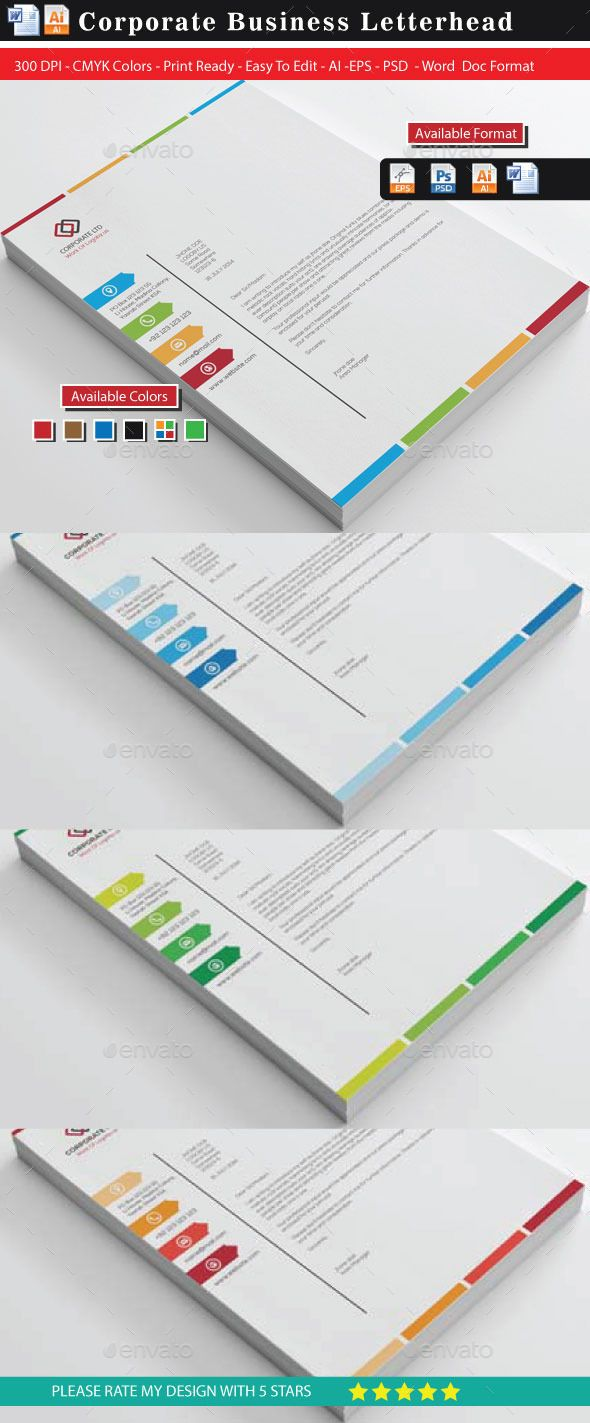 Colourful Business LetterheadsUpdated  Letterhead Business And
