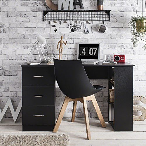 Laura James   Computer Desk  3 Drawers   3 Shelves   Home Office Table   Workstation