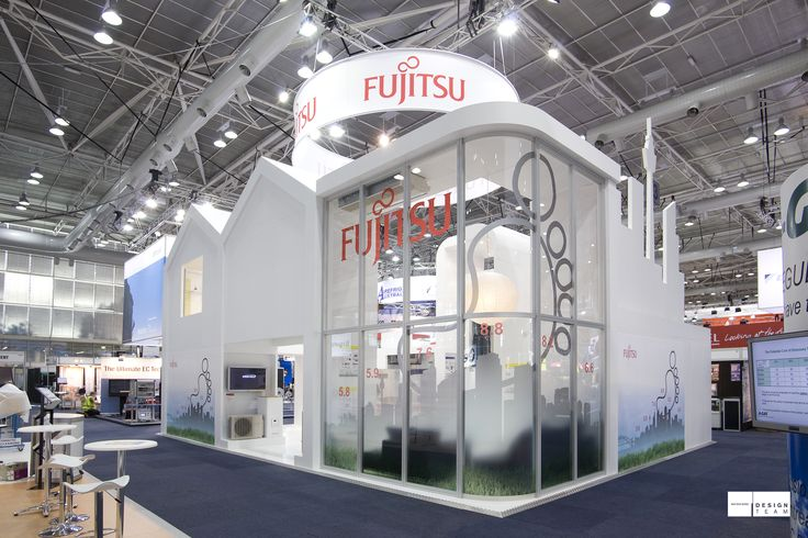 FUJITSU @ ARBS  Clean, inviting and leading edge stands are created each ARBS by bold shapes, curved forms and daring designs. Winner of best stand award