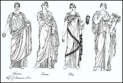 "Thomas, Pauline W. ""Roman Women-Dress.""- Woman Wore elaborate gowns draped around their bodies."