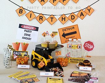 Construction Birthday ideas and purchases!!!