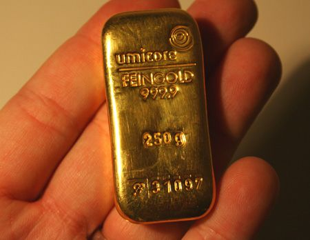 250 Gram Gold Bar - (a quarter kilo or just over 8 troy ounces.) http://www.coinandbullionpages.com/gold-bullion-bars/250-gram-gold-bar.html