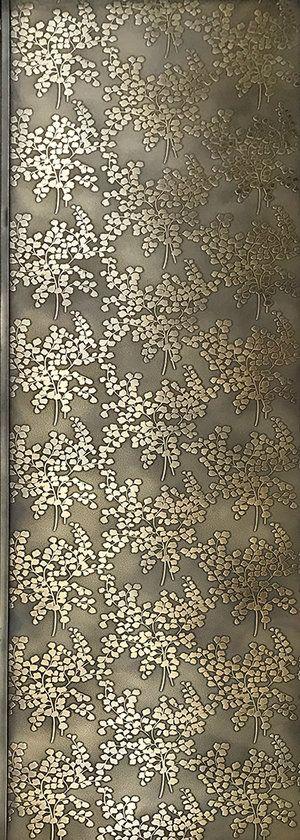 Florence Broadhurst Maidenhair Fern Door | Brass Brown Florentine