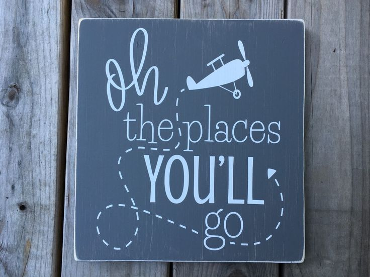 Oh the places you'll go, nursery, little boys room, airplane, rustic nursery by OurRusticNest on Etsy https://www.etsy.com/listing/251106550/oh-the-places-youll-go-nursery-little