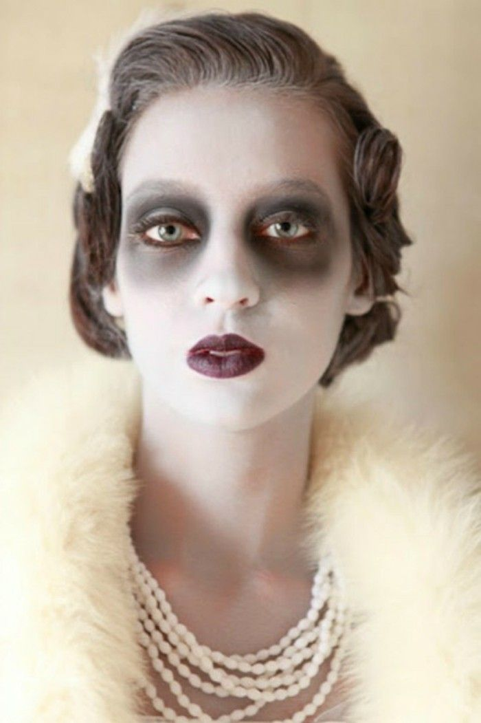Maquillage simple et rapide pour halloween - Maquillage facile pour halloween ...