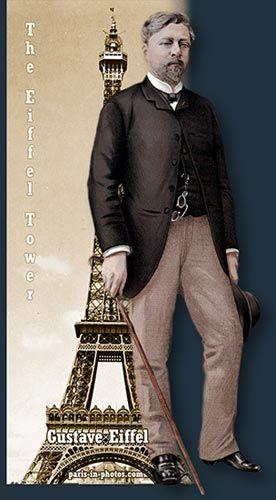 Thomas Eiffel: Gustave Eiffel, Eiffel Tower, Paris, 1889 a. Built for the Paris World Exhibition of 1889 (realism)