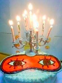 沖田のアイマスクケーキ