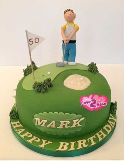 First cake for 2015  - a GOLF CAKE - Golfer on the putting green. Jan 2015
