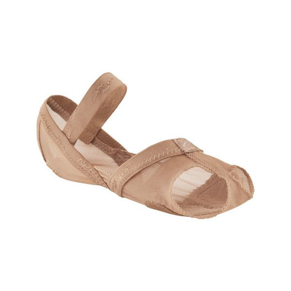 Capezio Dance Full Body Footundeez - Nude Ballet Shoes (£22) ❤ liked on Polyvore featuring shoes, beige, ballet flat shoes, ballerina shoes, capezio dance shoes, flexible shoes and nude ballerina shoes