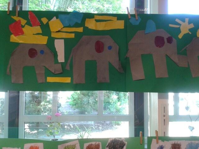 Olifant vouwen van 16 vierkantjes.