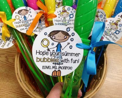 FREE Editable Labels for Bubbles (End of the Year Student Gifts)