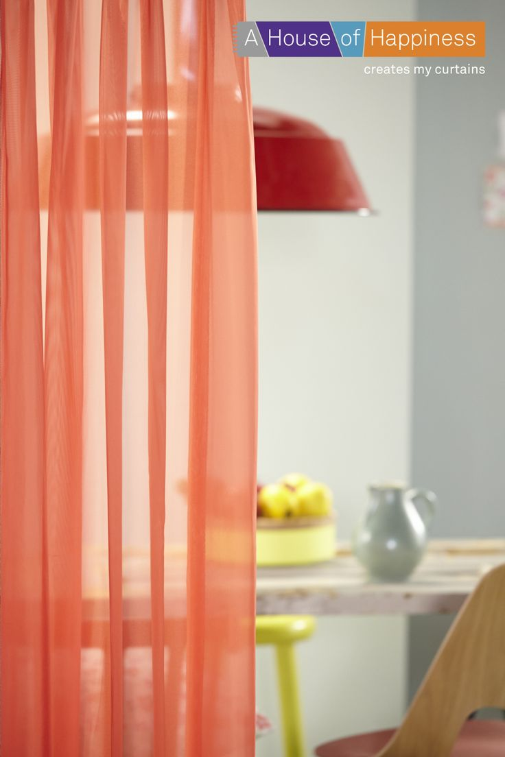 COLOUR 'N VINTAGE |  #gordijnen #curtains #Gardinen #Vorhänge #orange #red