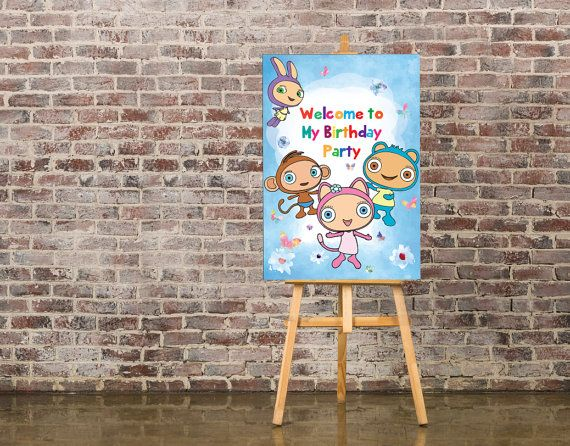 Waybuloo Birthday Sign Customized Door sign Waybuloo by IRMdesgn & 13 best Waybuloo party images on Pinterest | Anniversary cakes ...