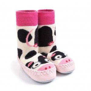 Cow Slipper Socks