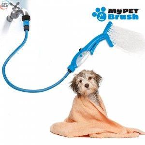 My Pet Brush hose - Slange og børste for vask av din hund
