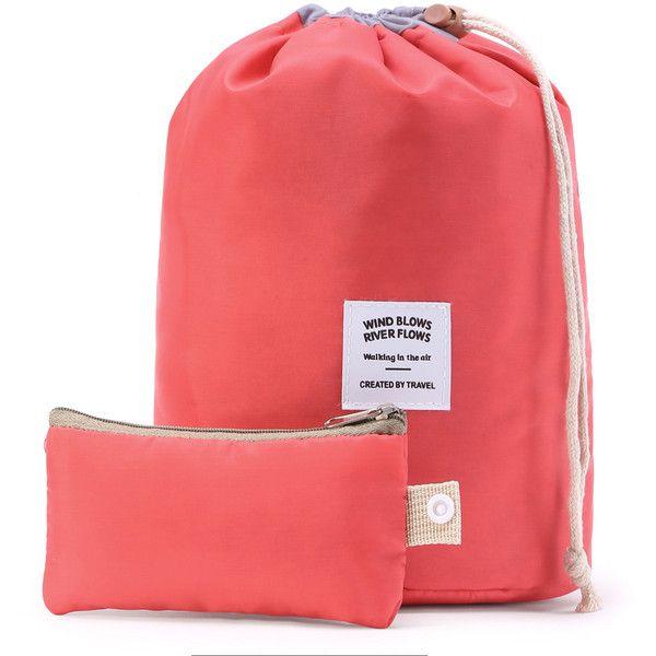 Bolso de maquillaje en forma de cubo con bolsita (8.27 BAM) ❤ liked on Polyvore featuring makeup bag case, cosmetic bag, wash bag, cosmetic purse and make up bag