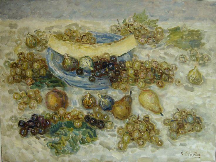 Vincenzo Ciardo (Gagliano del Capo, Lecce 1894- 1970) Natura morta 1950 olio su tela Napoli Coll. Privata