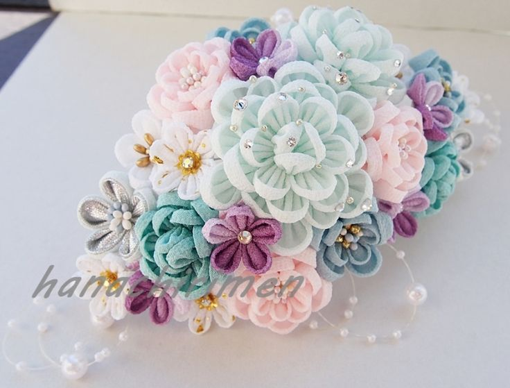 1000 Images About つまみ細工 On Pinterest Kimonos Flower And Ps