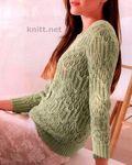 Мобильный LiveInternet Легкий пуловер с узорами | Королева-мать - Дневник Татьяна_Гагаева |