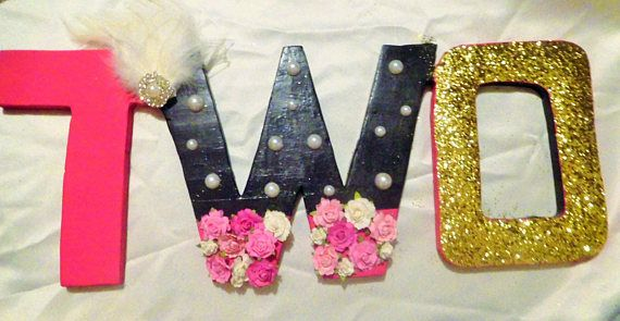 TWO Shaby Chic wood letters 25.00 plus shipping