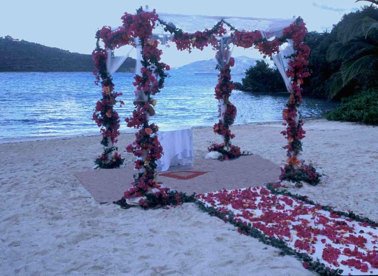 Wedding Canopy with Floral Arrangement.