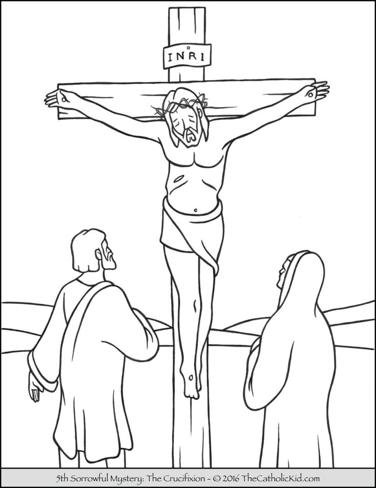 sorrowful mysteries rosary coloring pages the crucifixion