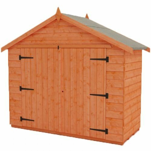 Tiger 7 Ft W X 5 Ft D Shiplap Apex Wooden Bike Shed Tiger Sheds In 2020 Shiplap Cladding Shed Building A Shed