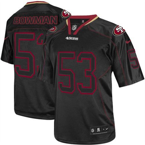 NaVorro Bowman Elite Jersey-80%OFF Nike Lights Out NaVorro Bowman Elite Jersey at 49ers Shop. (Elite Nike Men's NaVorro Bowman Lights Out Black Jersey) San Francisco 49ers #53 NFL Easy Returns.