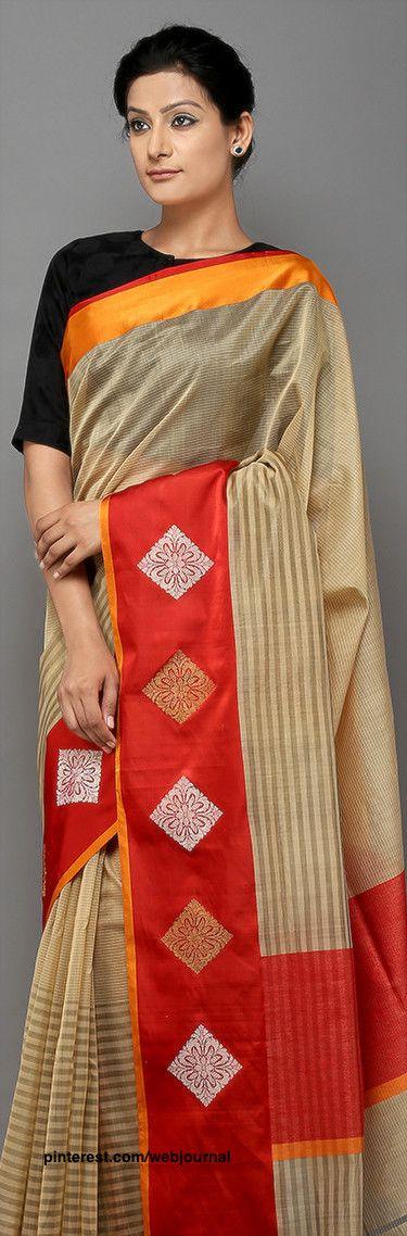 Handwoven Banarasi cotton silk saree from theloom.in