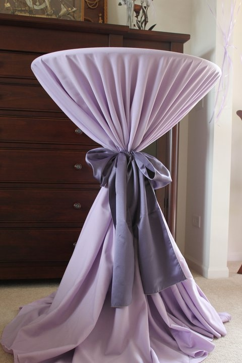 idea to save on tables/linens use highboys.