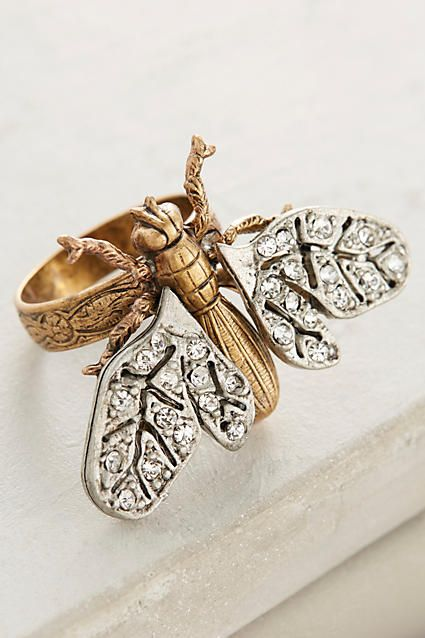 Winged Beetle Ring - anthropologie.com