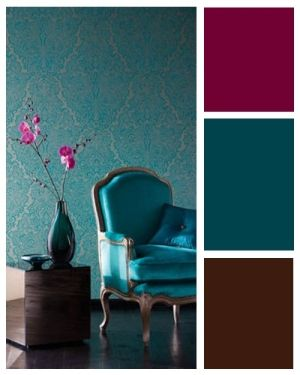 home decor browns | Teal and brown with maroon accents - Popular Home Decor Pins on ...