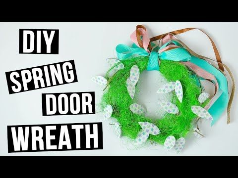 How to make DIY spring door wreath.Today we'll create a bright spring wreath using sisal and decorative ribbons. #diywreath #doorwreath #springwreath