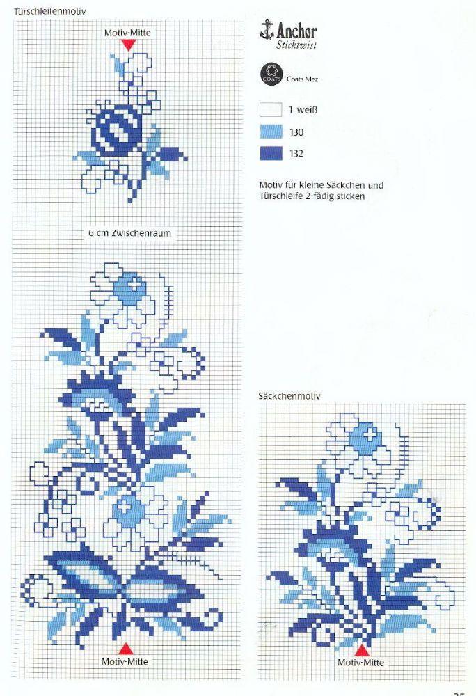 fiori in blu