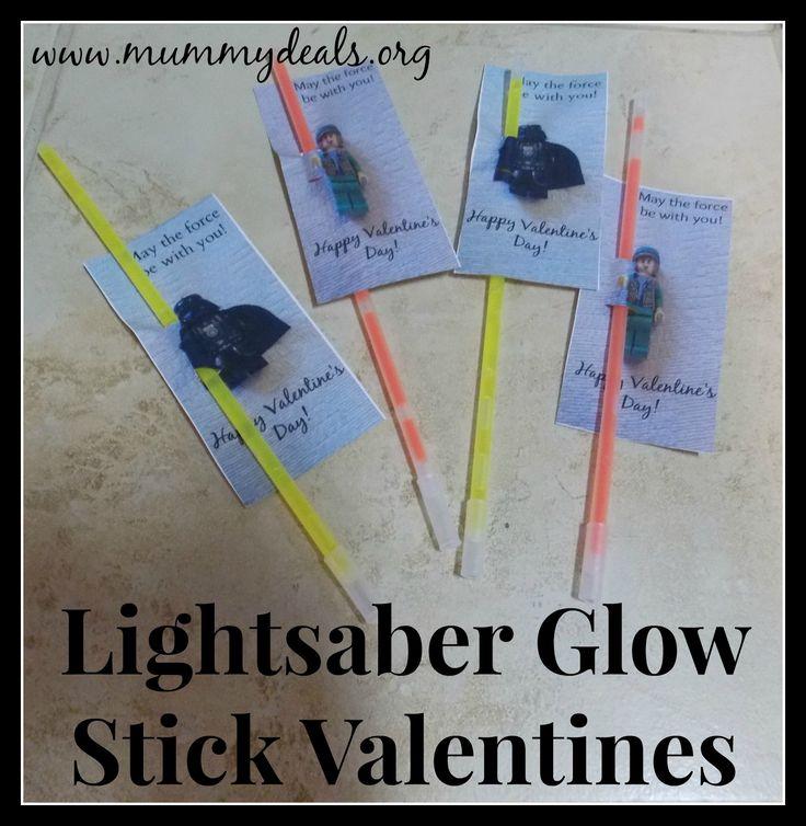 Lightsaber Glow Stick Valentines