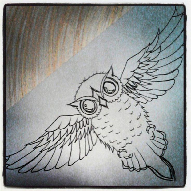 underboob Owl Tattoo Designs for Girls | Owl Tattoo Chest Design by titaniumsnowtiger