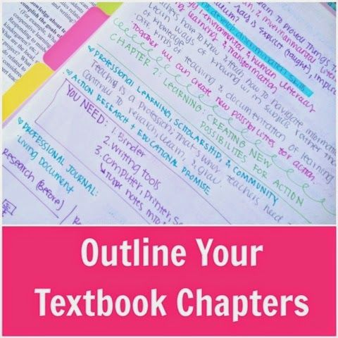 "organizedcharm: "" If you've ever tried to read a textbook chapter word-for-word, beginning-to-end, you know it's nearly impossible to stay focused. We've all seen that photo on Pinterest of the..."