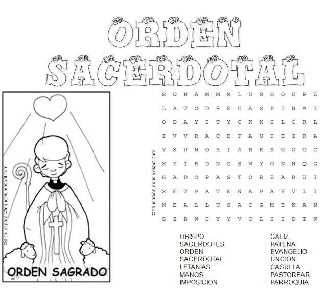 Sopa De Letras Sacramentos De Servicio