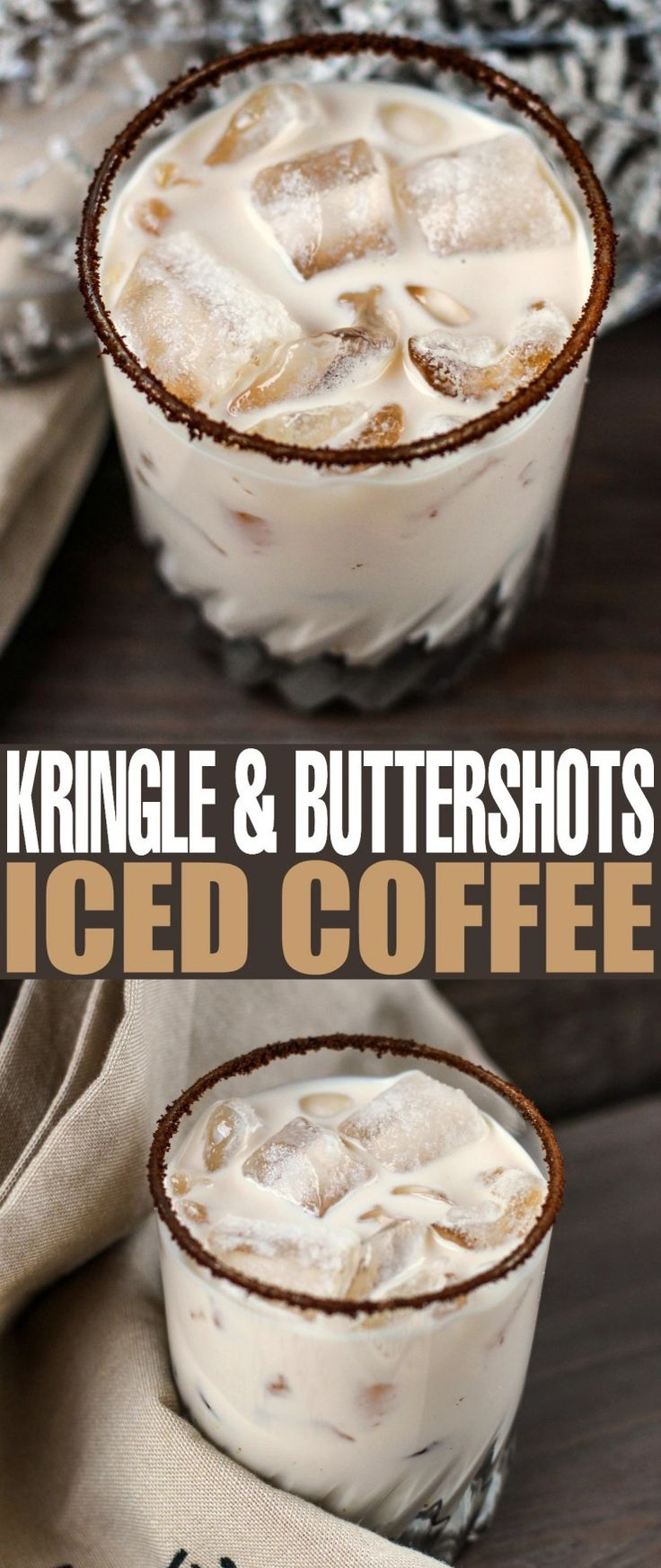 The holiday season is rife with holiday parties and dinners. After Christmas dinner and on new years eve, in particular, I enjoy a fancy drink. You know something sweet and delicious that I can savour slowly. I think this Kringle and Buttershots Iced Coff