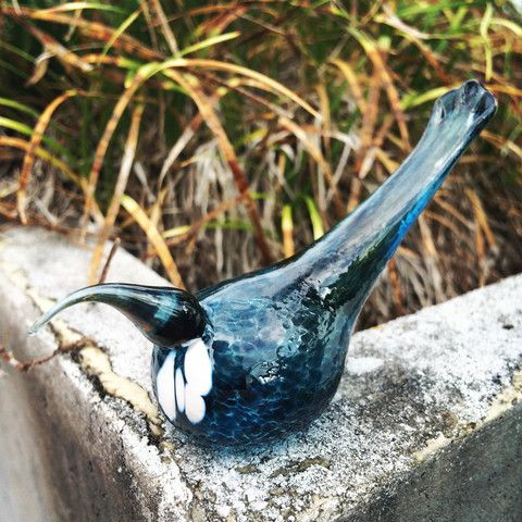 Glass Tui - Isaac Katzoff Hand blown Glass
