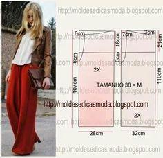 Cartamodello pantalone largo