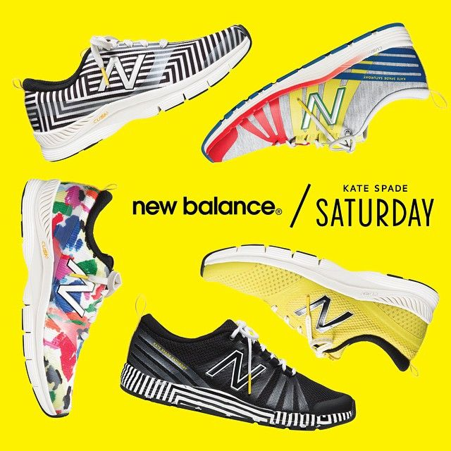 「JUMP FOR JOY: The New Balance x Kate Spade Saturday collaboration is available starting today!!」
