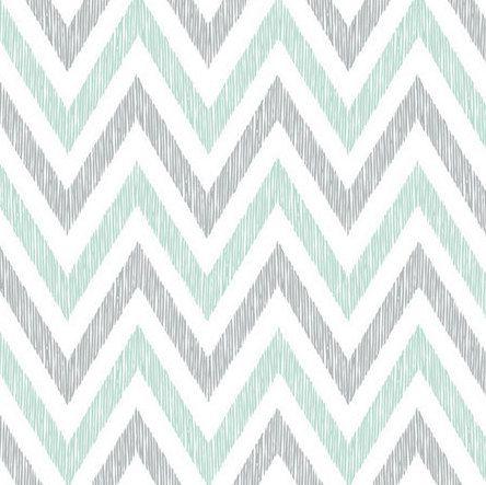 ORGANIC Crib Sheet - Grey Mint Chevron Sheet / Nursery Bedding / Organic Cloud9 Simpatico on Etsy, $50.00