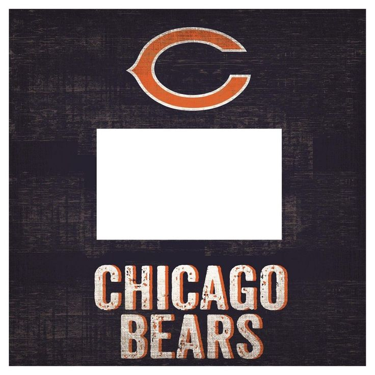 """NFL Chicago Bears 10"""" x 10"""" Picture Frame Sign"""