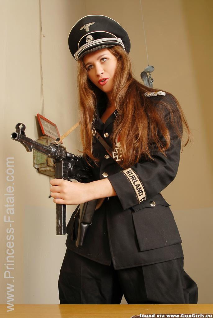 Action girls sexy nazi costume-8533