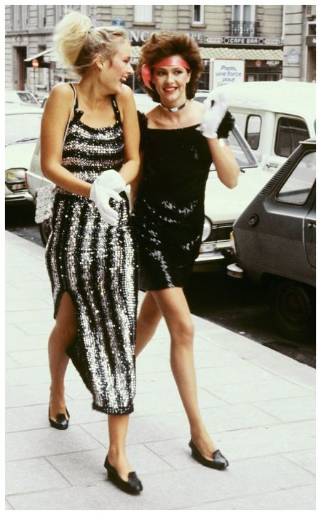 Models before Paris Fashion Week, A/W 1981-82
