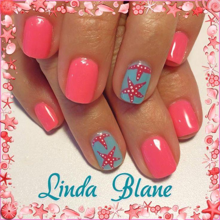 Linda Blane, starfish nail art, summer nail art