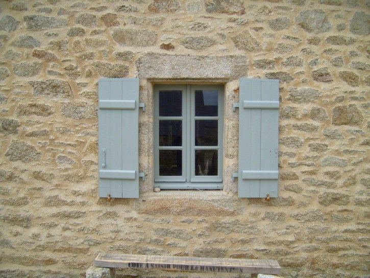 Antique windows on stone house public domain image picture in gallery ...