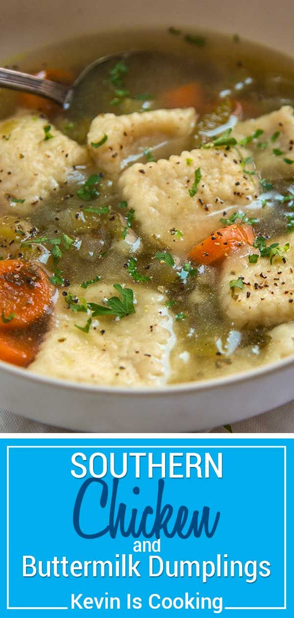 This Beautifully Seasoned Southern Chicken And Dumplings Is Made With Shredded Chicken Vegetables And Chicken And Dumplings Southern Chicken Cooking Recipes
